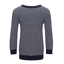 Buy Kin by John Lewis Boys' Mini Striped Jumper, Navy/White Online at johnlewis.com