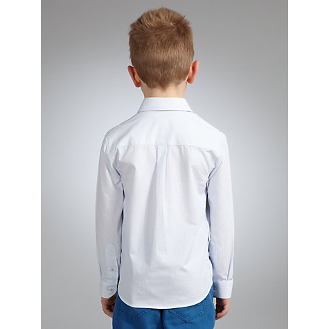 Buy John Lewis Heirloom Collection Geometric Long Sleeved Shirt, White/Blue Online at johnlewis.com
