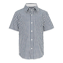 Buy John Lewis Heirloom Collection Gingham Checked Shirt, Navy/White Online at johnlewis.com