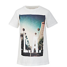 Buy Worn & Torn L.A. T-Shirt, Ecru Online at johnlewis.com