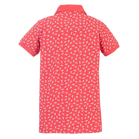 Buy Worn & Torn Boys' Symbol Polo Shirt, Red/White Online at johnlewis.com