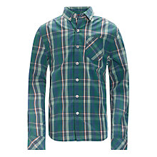 Buy Worn & Torn Long Sleeved Checked Shirt, Green/Multi Online at johnlewis.com