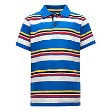 Buy John Lewis Boy Sporty Striped Polo Shirt, Blue/Multi Online at johnlewis.com