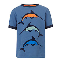 Buy John Lewis Boy Marlin T-Shirt, Blue Online at johnlewis.com