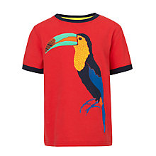 Buy John Lewis Boy Toucan T-Shirt, Red Online at johnlewis.com
