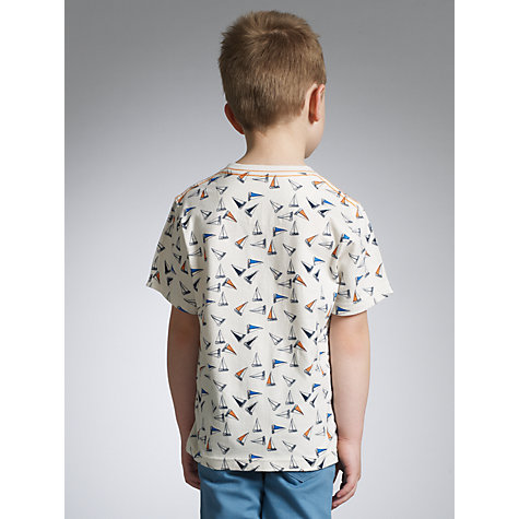 Buy John Lewis Boy Yacht T-Shirt, Cream Online at johnlewis.com