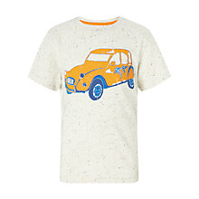 Buy John Lewis Boy Palm Tree Car T-Shirt, Cream Online at johnlewis.com