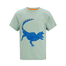 Buy John Lewis Boy Baby Crocodile T-Shirt, Green Online at johnlewis.com