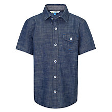 Buy John Lewis Boy Plain Short Sleeved Shirt Online at johnlewis.com