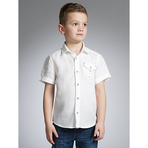 Buy John Lewis Boy Linen Short Sleeved Shirt Online at johnlewis.com