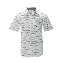 Buy John Lewis Boy Jet Short Sleeved Shirt, Cream Online at johnlewis.com