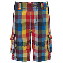 Buy John Lewis Boy Checked Combat Shorts, Multi Online at johnlewis.com