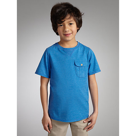 Buy Kin by John Lewis Boys' Crew Neck Pocket T-Shirt, Blue Online at johnlewis.com