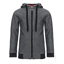 Buy Kin by John Lewis Boys' Mini Striped Zip Through Hoodie, Grey/White Online at johnlewis.com