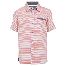 Buy Kin by John Lewis Boys' Striped Short Sleeved Shirt, Red/White Online at johnlewis.com