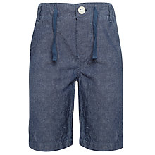 Buy Kin by John Lewis Boys' Linen Shorts, Navy Online at johnlewis.com