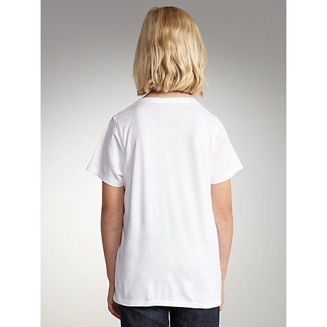 Buy Levi's Boys' Leo T-Shirt, White Online at johnlewis.com