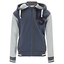 Buy Levi's Loik Long Sleeved Hoodie, Blue/Grey Online at johnlewis.com