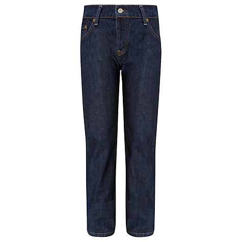 Buy Levi's 501 Boys' Straight Danny Dark Denim Jeans, Blue Online at johnlewis.com