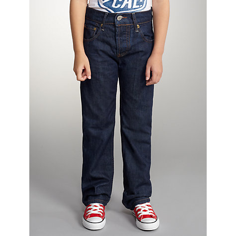Buy Levi's 501 Boys' Straight Danny Jeans, Dark Denim Online at johnlewis.com