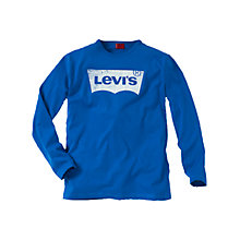 Buy Levi's Strauss Logo T-Shirt, Blue Online at johnlewis.com