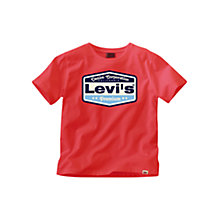 Buy Levi's Premium Logo T-Shirt, Red Online at johnlewis.com