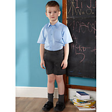 Buy John Lewis Boys' Adjustable Waist School Shorts, Grey Online at johnlewis.com