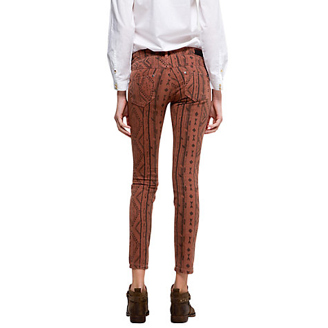 Buy Mango Ethnic Print Jeans, Toffee Online at johnlewis.com
