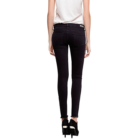 Buy Mango Studded Slim Jeans, Black Denim Online at johnlewis.com