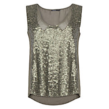 Buy Mango Sequin Sheer Top Online at johnlewis.com