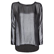 Buy Mango Metallic Sheer Blouse Online at johnlewis.com