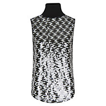 Buy Mango Scale Sequins Top, Black Online at johnlewis.com
