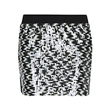 Buy Mango Sequin Knit Skirt, Black Online at johnlewis.com