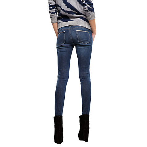 Buy Mango Slim Line Stud Detail Jeans, Denim Online at johnlewis.com
