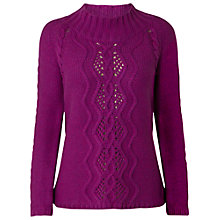 Buy White Stuff Knit Jumper, Purple Online at johnlewis.com