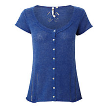 Buy White Stuff Genevieve Knit Top, Blue Online at johnlewis.com
