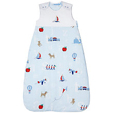 Buy John Lewis Baby Alphabet Sleeping Bag, 2.5 Tog, Blue Online at johnlewis.com
