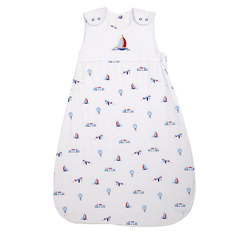 Buy John Lewis Baby Alphabet Sleeping Bag, 2.5 Tog, Blue, 0-6 months Online at johnlewis.com