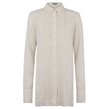 Buy Jigsaw Oversized Silk Shirt, Cream Online at johnlewis.com