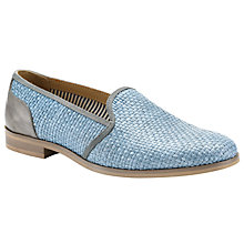 Buy Somerset by Alice Temperley Daisy Woven Leather Loafers, Cornflower Blue Online at johnlewis.com