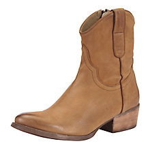 Buy Somerset by Alice Temperley Heather Western Leather Ankle Boots Online at johnlewis.com