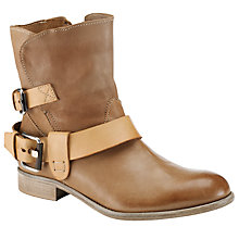 Buy Somerset by Alice Temperley Hollyhock Buckle Ankle Boots, Tan Online at johnlewis.com