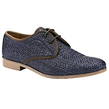 Buy Somerset by Alice Temperley Peony Raffia Lace-Up Shoes, Navy Online at johnlewis.com