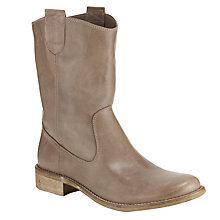Buy Collection WEEKEND by John Lewis Brett Leather Pull-On Calf Boots, Grey Online at johnlewis.com