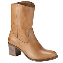 Buy Collection WEEKEND by John Lewis Leather Block Heel Boots, Tan Online at johnlewis.com