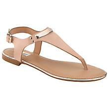 Buy Somerset by Alice Temperley Dahlia Leather Metal Trim Sandals, Nude Online at johnlewis.com