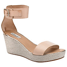Buy Somerset by Alice Temperley Iris Leather Cutaway Sandals, Nude Online at johnlewis.com
