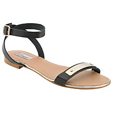 Buy Somerset by Alice Temperley Lily Leather Metal Trim Sandals, Black Online at johnlewis.com