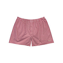 Buy Thomas Pink The Lions Gingham Boxer Shorts, Red/White Online at johnlewis.com