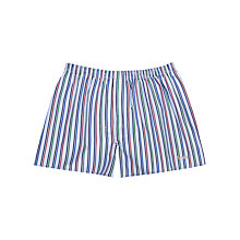 Buy Thomas Pink The Lions Stripe Boxer Shorts, Blue/Multi Online at johnlewis.com